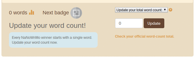 Nanowrimo word count updater
