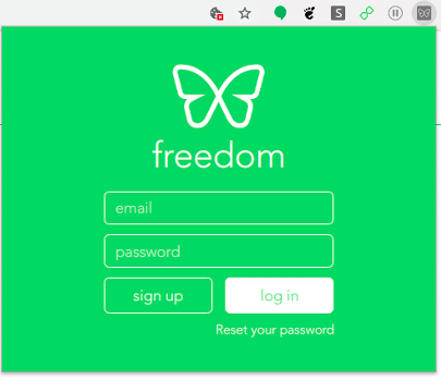 Log in to Freedom Chrome Extension
