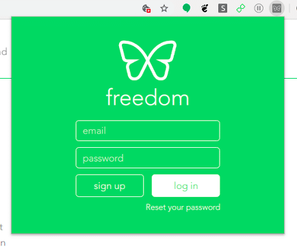 Log into Freedom account