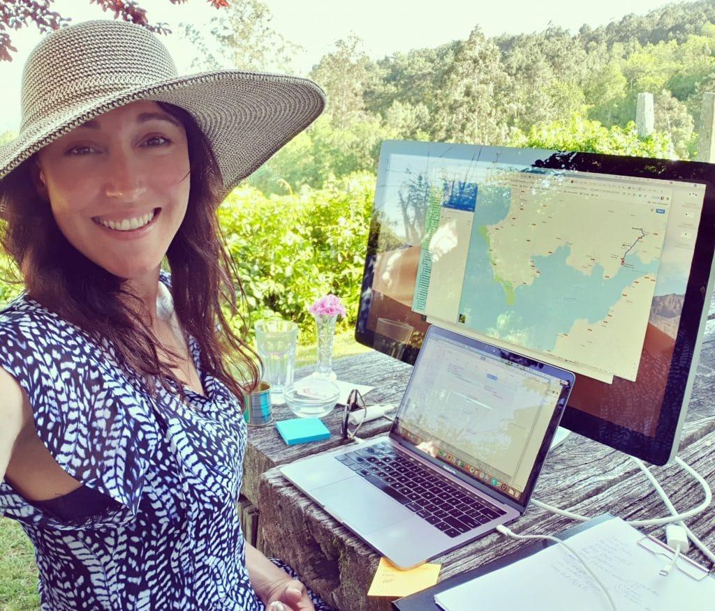 Alicia Navarro FLOWN founder working outdoors