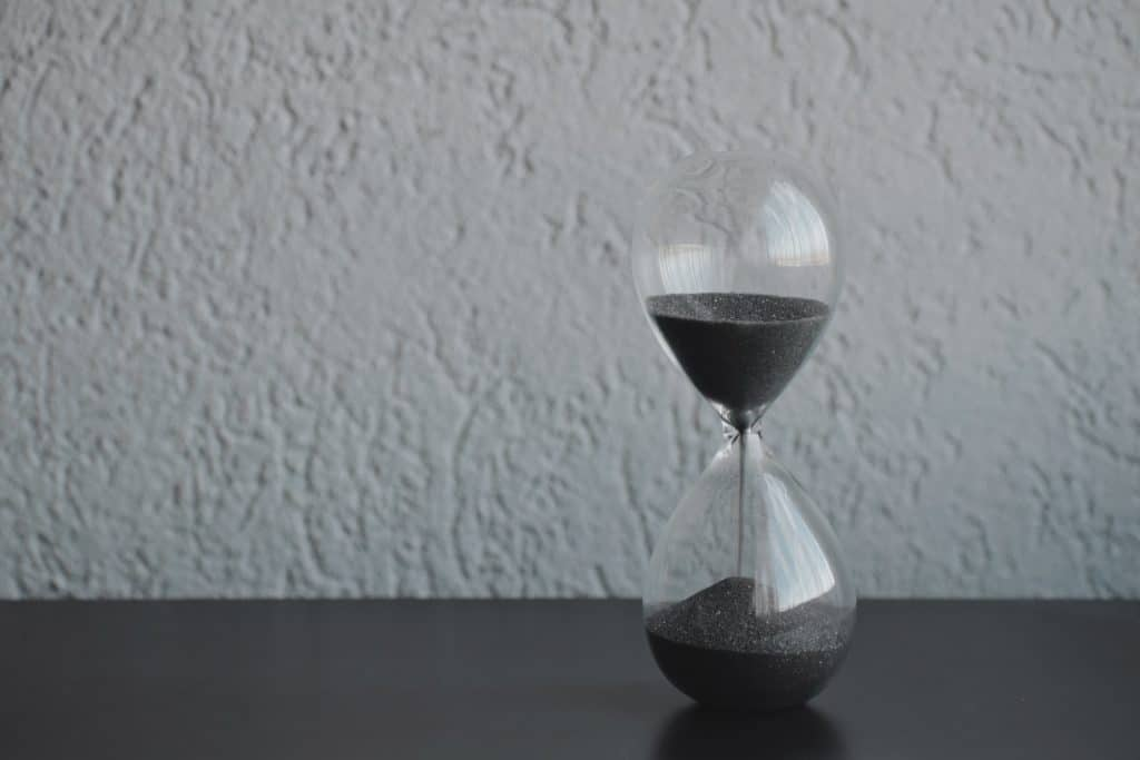 Hour glass on surface
