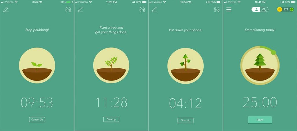 Forest mobile app