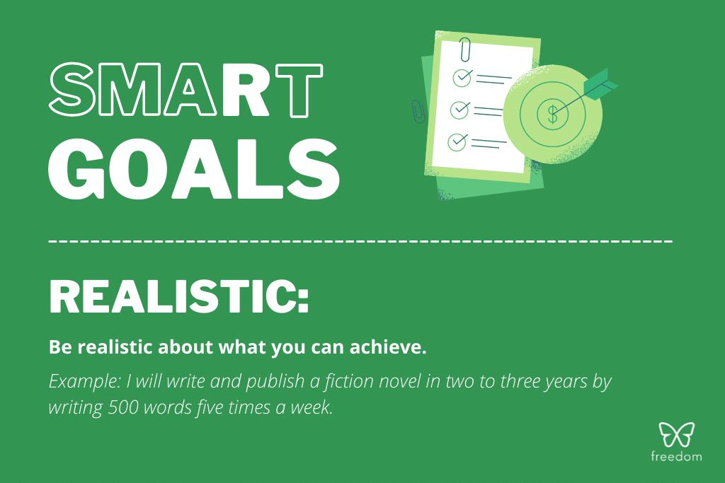 smart goals: realistic